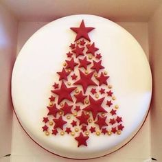 Image result for simple christmas cake decoration