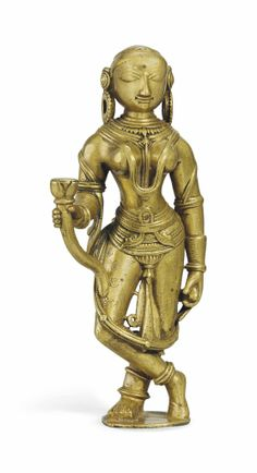 A BRASS FIGURE OF LAKSHMI -  INDIA, CIRCA 18TH/19TH CENTURY Japanese Cherry Tree, Oriental, Metal Figurines, Indian Art Paintings, Gods And Goddesses, Ancient Art, Antique Art, Asian Art, Buddha