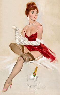 Fritz Willis Vintage Pin Up Girl Illustration | Pin-Up Girls | Sugary.Sweet | #PinUp #Art #Vintage #Illustration