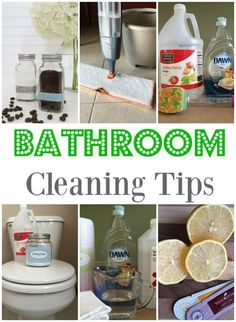 Here are some great DIY cleaning tips for the bathroom!