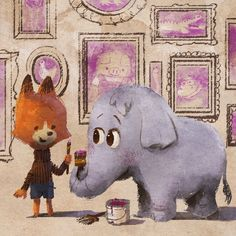 Artist and friend, Mike Wu, wrote and illustrated his first book, Ellie! Here's some fan art! It drops on May 12 from #disneybooks
