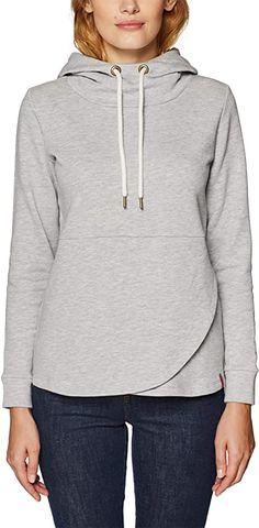 Toller Hoodie...  Bekleidung, Damen, Sweatshirts & Kapuzenpullover, Sweatshirts Damen Sweatshirts, Hoodies, Cute Woman, Hooded Jacket, Sportswear, Grey, Sweaters, Jackets, Stuff To Buy