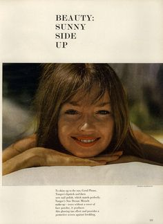Mademoiselle Editorial Beauty: Sunny Side Up, May 1960 Shot