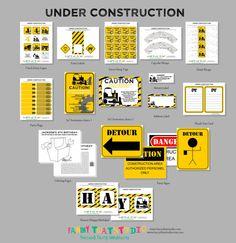 Construction Themed Birthday party pack - via Etsy