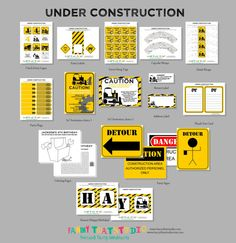 Construction Themed Birthday party pack - via Etsy
