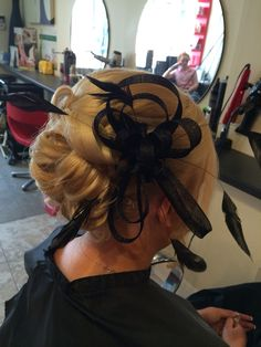 Wedding hair up/fascinator
