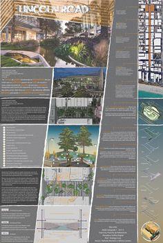 Prancha síntese final sobre o estudo de referencias projetuais : Lincoln Road 1111, Miami - USA  - por Vitória Carreiro