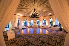 Bacara Resort Wedding Reception Rotunda Ana García The Windows Lighting Ceiling