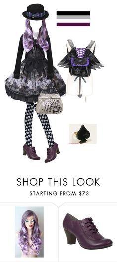 """""""Ace Pride Lolita"""" by miloceane ❤ liked on Polyvore featuring Hush Puppies"""