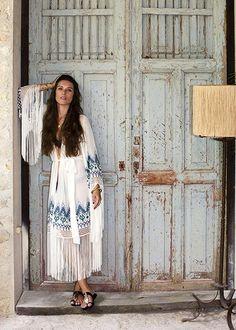 Boho Style Inspiration: Fringe and Embroidery Maxi Dress #johnnywas