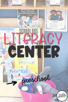 The Literacy Center in a preschool classroom is a place for children to learn about books, alphabet letters and other literary concepts. See what is inside my Literacy Center. Preschool Centers, Preschool Classroom, Literacy Centers, Preschool Activities, Kindergarten, Play Based Learning, Learning Centers, Cheap Used Books, Classroom Organization