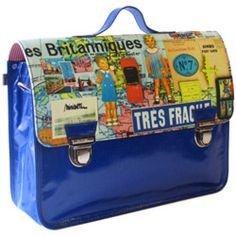 Schooltassen groot-grote hippe schooltas britanniques-les britanniques-Miniseri-5980-Op zoek naar een mooie en originele schooltas? Dan is dit exemplaar van het Franse Miniséri zeker iets voor jou. Deze grote boekentas is gemaakt van g