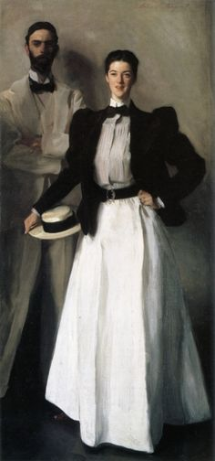 Mr. and Mrs. Phelps Stokes (1897). by John Singer Sargent.