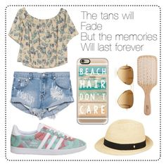 """""""#119 summer"""" by xjet1998x ❤ liked on Polyvore featuring OTTE, One Teaspoon, adidas, Casetify, Helen Kaminski, Ray-Ban and Philip Kingsley"""
