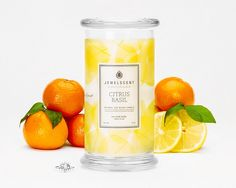 Citrus Basil Candle $24.99    A fresh blend of lemon and orange peel set the stage for this invigorating aroma! Musky cedar and sweet basil add brightness and warmth to the lush green fragrance of a blooming edible garden.  * Actual ring may not be the same as shown in picture. ** Preferred ring sizes are not guaranteed. Soy Wax Candles, Candle Jars, Kitchen Candles, Candle Shop, Scented Candles, Classic Candles, Wax Tarts, Orange Peel, Lush Green