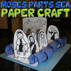 MOSES PARTING THE SEA OLD TESTAMENT BIBLE EXODUS PRINTABLE PAPER CRAFT