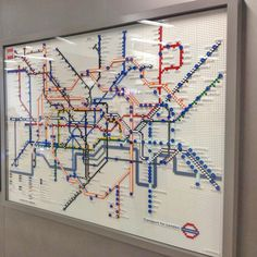 Infographic Design Inspiration London Underground Shows Off Five Tube Maps Made From Lego London Underground Tube Map, London Tube Map, Metro Map, London Transport, Map Design, Graphic Design, Design Museum, Legos, Design Inspiration