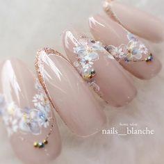 Nail Bridal Nails, Wedding Nails, Japan Nail Art, Pretty Nail Designs, Chic Nail Designs, Nude Nails, Acrylic Nails, Gel Nails, Chic Nails