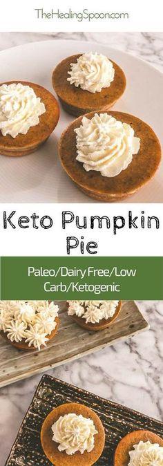 #keto #low carb dairy free, paleo mini pumpkin pie