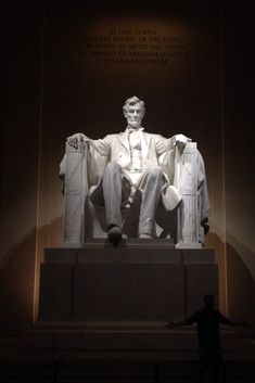 Abraham Lincoln Monument, Washington D.C.  The Lincoln Memorial is an American national monument built to honor the 16th President of the United States. It is located on the National Mall in Washington, D.C., across from the Washington Monument. (V)