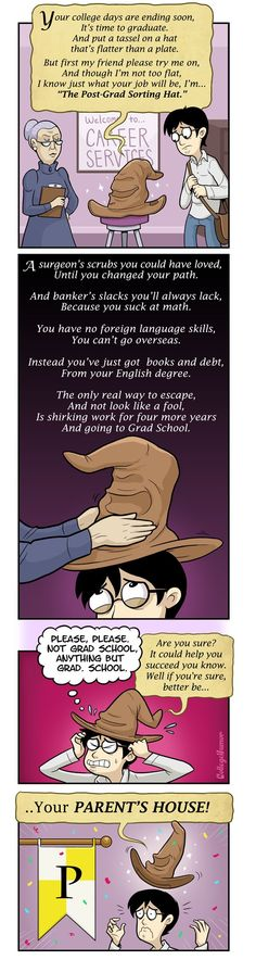 """The Post-Grad Sorting Hat"" by Caldwell Tanner and Susanna Wolff - CollegeHumor Article"