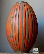RARE XL Vintage 60-70's CARSTENS Orange Floor Vase W.German Pottery Fat Lava Era