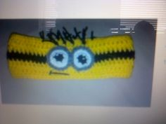 minion Crochet  Headband earwarmer Sizes from newborn to adult ..  made to order on Etsy, $12.00
