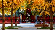 Liqiu (beginning of autumn) is the 13th solar term of Chinese calender. Following Liqiu, temperature will start to drop and it also signifies the end of summer.#Beijing #China