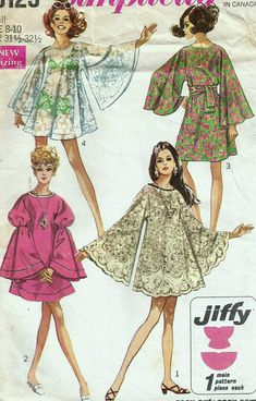 Vintage+60s+Simplicity+8129+Misses+Jiffy+Butterfly+or+Angel