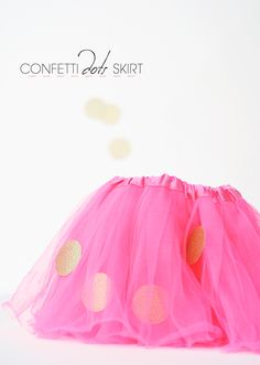 Update a tutu with metallic confetti - using fabric stickers!