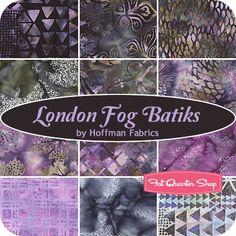<3 Fabric [London Fog Batiks Fat Quarter Bundle Hoffman Fabrics ($41.99 per Bundle)]