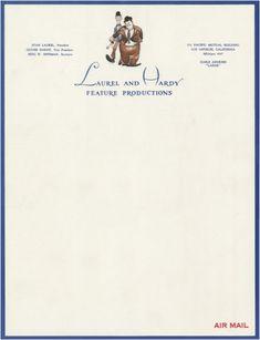 Vintage Laurel and Hardy letterhead