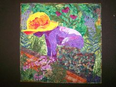 Baby In The Garden Quilt. Get inspired by amazing quilting projects on Craftsy! - Page 31 Garden Projects, Art Projects, Projects To Try, Quilting Projects, Quilting Ideas, Little People, Portrait, Folk Art, Needlework
