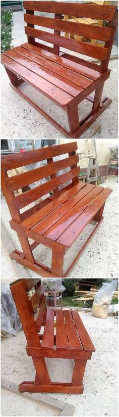 Check out the next image on our list, we have the classic piece of the wood pallet bench for you. This ideal creation of the bench is simple and rather easy to build up where the dark rustic use of the pallet has been put in all together modish variations for your house beauty.