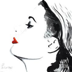 Princess Grace Print by Irene Celic at Art.com
