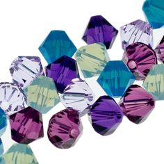 5328 6mm Swarovski Elements Crystal Mix - Monet   Fusion Beads