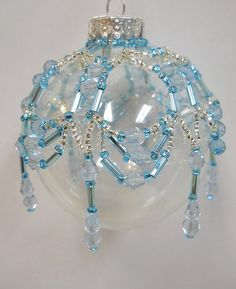 Details about PATTERN ONLY Beaded Christmas Ornament Cover Holiday Original…