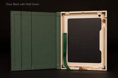 Contega Case for iPad 4/3/2 by PQ with Field Green interior color