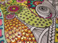 Work in progress. #paintforcri #zentangle #myart #colors
