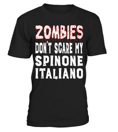 "# Zombies Don't Scare My Spinone Italiano Halloween T-Shirt .  Special Offer, not available in shops      Comes in a variety of styles and colours      Buy yours now before it is too late!      Secured payment via Visa / Mastercard / Amex / PayPal      How to place an order            Choose the model from the drop-down menu      Click on ""Buy it now""      Choose the size and the quantity      Add your delivery address and bank details      And that's it!      Tags: Funny Spinone Italiano…"