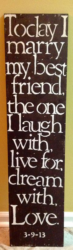 Wooden sign marriage quote by RootsMamaShop on Etsy, $60.00