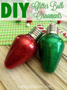 DIY Glitter Bulb Orn