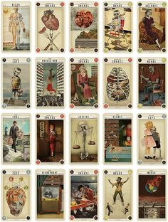 Zombie Tarot Cards, by Quirk Books