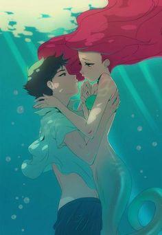 Tags: Fanart, Little Mermaid, Ariel, Disney anime style by Flow Manga Art, Manga Anime, Anime Art, Cartoon As Anime, Disney And Dreamworks, Disney Pixar, Disney Characters, Arte Disney, Disney Magic