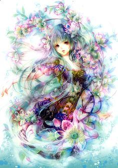 ZSHFLF DIY Diamond Painting Cartoon Anime Girl Full Square Rhinestone Painting Diamond Embroidery Cross Stitch Mosaic Home Fantasy Kunst, Fantasy Art, Manga Girl, Anime Cosplay, Wallpaper 3840x2160, Anime Fashion, Anime Kunst, Comic Drawing, Beautiful Anime Girl