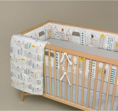 Dwellstudio Skyline Crib Bumper Design With Bebe In Mind