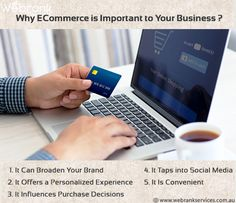 why #eCommerce is important to your business ? e-commerce is nothing but businesses which can be accomplished by means of the Internet. In present times online shopping has become popular and frequent among people which make an eCommerce business. http://webrankservices.com.au/
