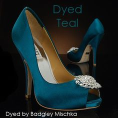 My glass slipper.com dyeable badgley mischka shoes