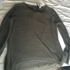 Cable knit oversized sweater Knit sweater slightly see through w/ lots of snags....in my opinion it looks cool but whatever floats ya boat H&M Sweaters Crew & Scoop Necks