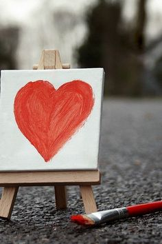 mini heart gallery  have everyone create a mini heart on a Popsicle stick easel